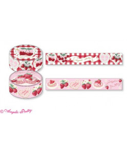 Melty Berry Princess ♡ Cherry Marguerite Masking Tape Set