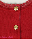 Antique Crown Embroidery Knit Cardigan