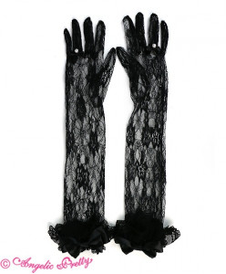 Lacy Princess Long Lace Gloves