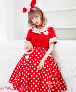 Milkshake Dot Circular Skirt