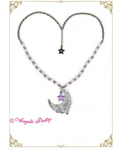 Paris Exclusive Melty Moon Special Color Necklace
