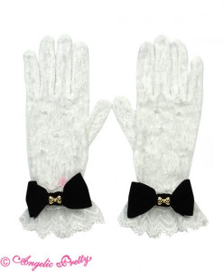 Bell Ribbon Lace Gloves