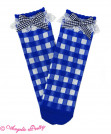 Lovely Gingham Crew Length Socks