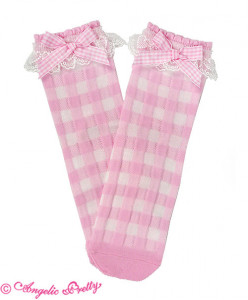 Lovely Gingham Crew Length Socks