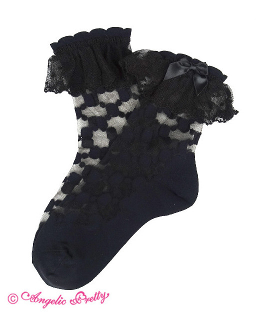 [RESERVATION] Pearl Shell Crew Length Socks