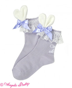 [RESERVATION] Lyrical Bunny Crew Length Socks