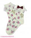 [Reservation] Petit Rose Crew Length Socks