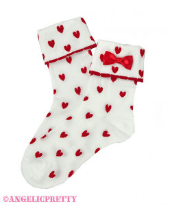 [Reservation] Falling Heart Crew Length Socks