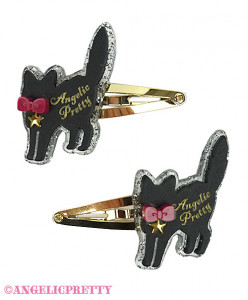 [Reservation] Black Cat Acrylic Hairpins