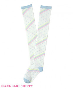 ☆ MADE TO ORDER ☆ Marshmallow Border Overknees