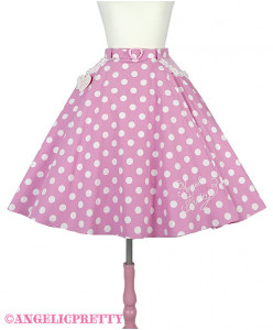 [Reservation] Milkshake Dot Circular Skirt