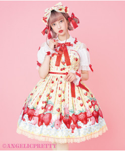 [Reservation] Little Bunny Strawberry Jumperskirt