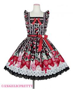 [Reservation] Little Bunny Strawberry Skirt Apron