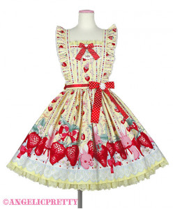 [Reservation] Little Bunny Strawberry Skirt Apron