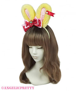 [Reservation] Little Strawberry Lyrical Bunny Headbow