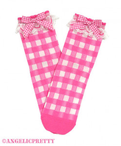 [Reservation] Lovely Gingham Crew Length Socks