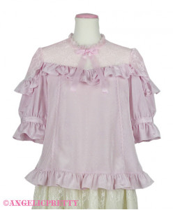 [Reservation] Lacy Frill Short Sleeve Blouse