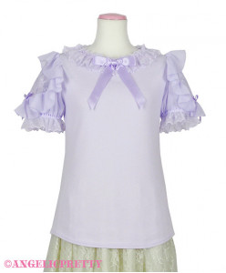 [Reservation] Lacy Frill Short Sleeve Cutsew