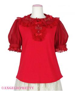 [Reservation] Fuwa Fuwa Ribbon Blouse Short Sleeves Cutsew