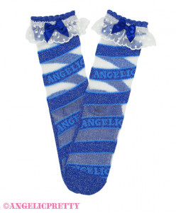 [Reservation] Stripe Candy Crew Length Socks