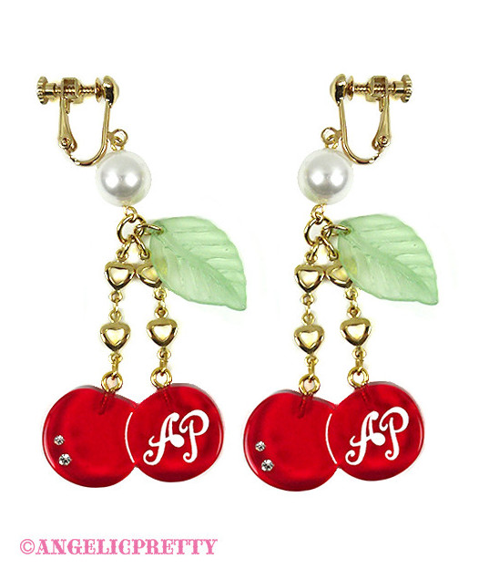 [Reservation] Twin Cherry Earrings