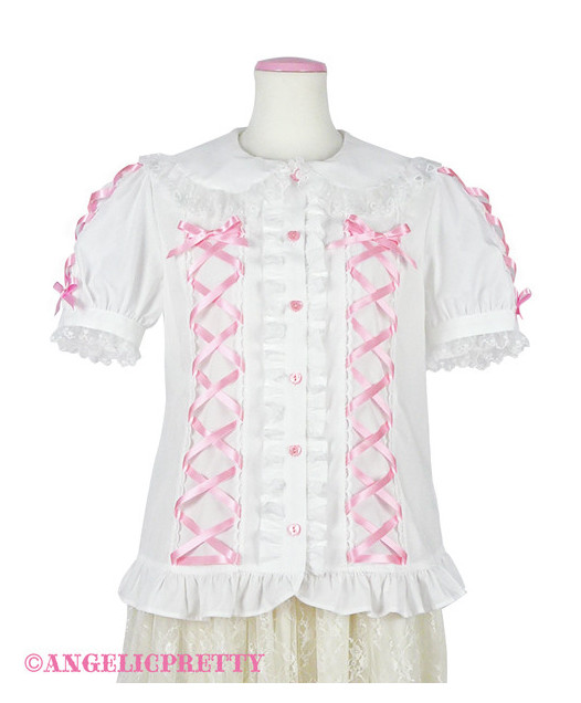 [Reservation] Lace-up Blouse