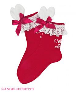 [Reservation] Lyrical Bunny Lace Crew Length Socks