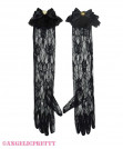 [Reservation] Heart Long Lace Gloves